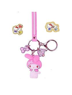Kerr's Choice My Melody Keychain My Melody Figure My Melody Key Chain My Melody Sanrio Cute Kawaii Keychain, 1 Count (Pack of 1)