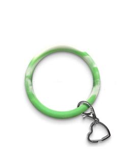 Zhaoyun Bracelet Key Ring Chain,Tassel Bangle Oversize Round Key Ring Wristlet Keychain Bangle Keyring for Women Girl