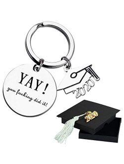 Ldurian Graduation Gifts 2021, Grad Keychain for Her, Keyring for Him School