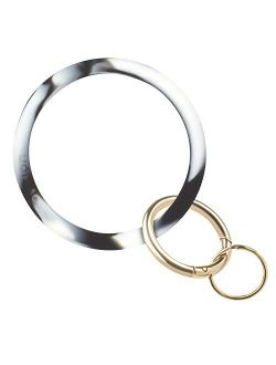 EcoVision Keychain Ring Bracelet,Silicone Wristlet Keychain Bangle for Fashionable Women and Girls