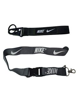 1pc Lanyard + 1pc Keychain For Nike Gift Sport Training Outdoor Workout Car Key