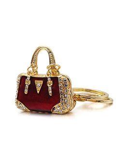 AM Landen Rhinestone Handbag Keychain Handbag Charms Purse Charm Gift Key-chain
