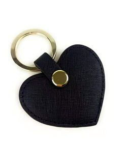 Cute Leather Keychain Heart Shape Leather Key Ring Car Key Holder