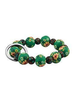 KUIYAI Elastic Functional Beaded Wrist Keychain Bracelet Handsfree Keychain Gift for Her