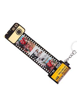 Personalized Keychains with Picture Custom MultiPhoto Camera Film Roll Keychains Personalized Photo Gift for Lovers