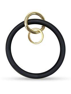Keychain Bracelet,Silicon Wristlet Keychain Bangle Keyring Holder for Women Girl