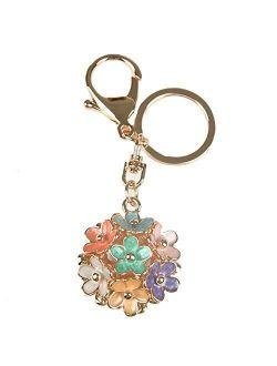 Kissweet Fashion Women Little Daisy Flower Ball Keychain Bag Pendant Charms