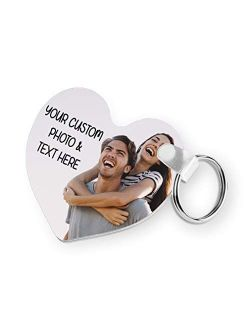 Valentine's Day Key Chain Custom Keychain Personalized Photo Picture Text Couple Gifts