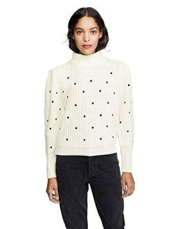 English Factory Women's Dot Embroidered Sweater