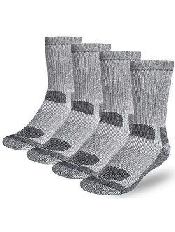 Buttons & Pleats Wool Socks for Men Women (Pack of 3/4) 80% Merino Thermal Warm Boot Sock