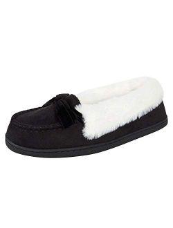 Women's Micro Suede Moccasin Indoor Outdoor Slipper Shoe