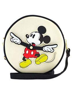 X Disney Mickey Mouse Clock Arms Circle Crossbody Bag