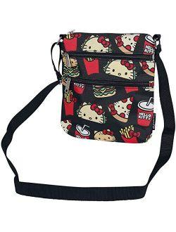 X Sanrio Hello Kitty Snacks Aop Nylon Passport Bag