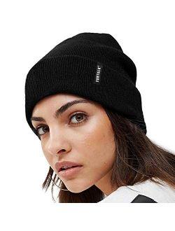 FURTALK Womens Knit Beanie Hat Acrylic Winter Hats for Women Men Soft Warm Unisex Cuffed Beanie
