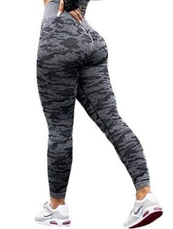 Womens High Waisted Compression Leggings Hollow Out Yoga Pants Gym Workout Tights Tummy Control