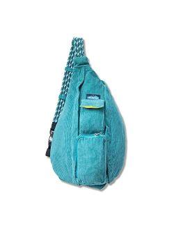 Rope Cord Bag Sling Crossbody Corduroy Backpack