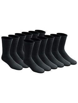 Men's All Purpose Cushion Crew Socks (6/12 Packs)