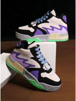 Lace-up Chunky Colorful Sneakers