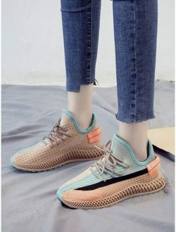 Lace-up Front Wide Fit Colorful Sneakers
