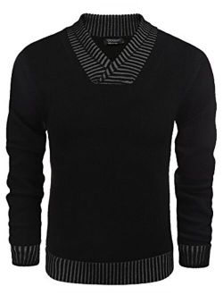 Men's Knitted Sweaters Casual V-neck Slim Fit Pullover Knitwear