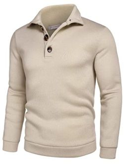 Men's Casual Slim Fit Pullover Sweater Knitted Sweatershirt Thermal Napping Inside