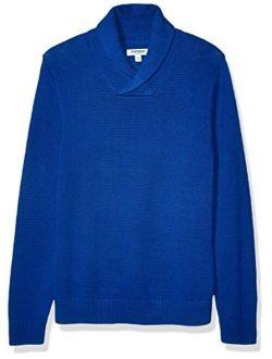 Solid Black Size Medium Goodthreads Men/'s Soft Cotton Quarter Zip Sweater,