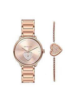 Women's Portia Three-hand Rose Gold-tone Stainless Steel Watch Mk4468