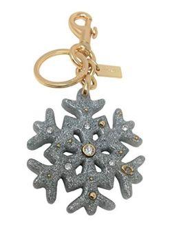 Sparkle Snowflake Keychain Bag Charm Silver F78689
