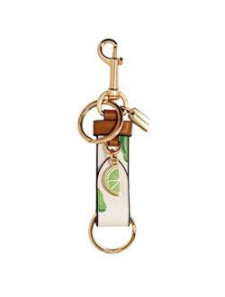 Ny Trigger Snap Bag Charm With Lime Print Keyring - #1735