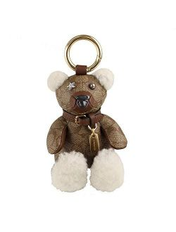 Teddy Bear Keychain Signature Canvas Leather Limited Edition Collectible