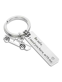 Drive Safe Keychain I Need You Here With Me Gifts for Husband Dad Boyfriend Gifts Valentines Day Father's day BirthdayGift