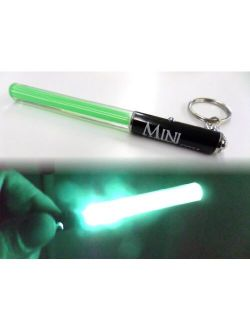 GREEN Mini Keychain with LED Light Saber Keyring Party Star Wars Clubs Light Sticks LED dance Jedi parties V. Cool RED, GREEN Or PINK (GREEN)
