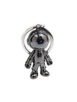 Vosarea Astronaut Keychain Pendant Creative Space Robot Key Chain Keyring Alloy Astronaut Car Key Holder Gifts