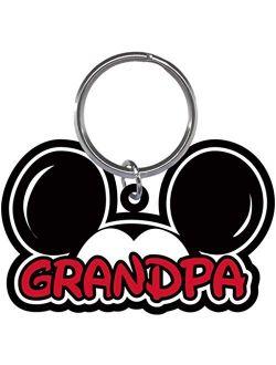 Family Grandpa Mickey Mouse Ears Lasercut Laser Keychain Keyring