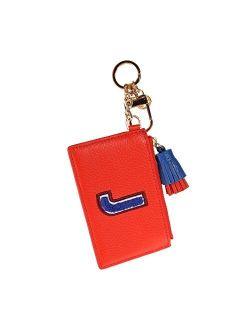 Leather Keyfob Card Case Monogram