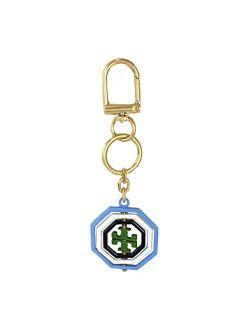 Rotating Geo Logo Key Fob Bag Charm