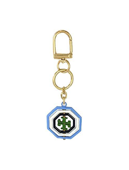 Tory Burch Rotating Geo Logo Key FOB Bag Charm