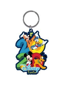 Dated 2020 Hangout Mickey Goofy Donald Pluto Lasercut Keychain, (florida Namedrop)