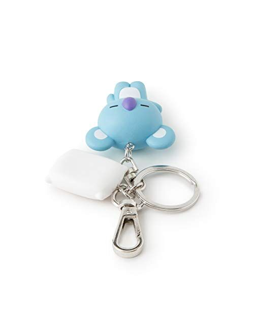 BT21 KOYA Character Mini Cute Figure Keychain Key Ring Bag Charm with Clip, Blue
