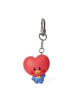 Baby Series Tata Character Cute Mini Figure Keychain Key Ring Bag Charm With Clip, Red