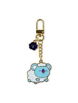 Universtar Koya Character Cute Mini Figure Keychain Key Ring Bag Charm With Clip, Blue