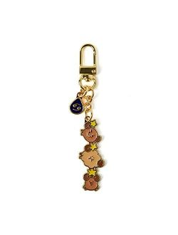 Universtar Shooky Character Cute Mini Figure Keychain Key Ring Bag Charm With Clip, Brown