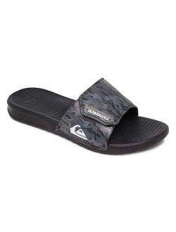   Gray & Black Camouflage Adjustable Bright Coast Slide - Men