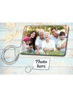 keychain Rectangular Personalized Photo Keychain Custom photo text Image Picture shipp