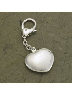 Personalized Name Silver Plated Heart Key Chain