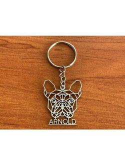 Personalized Name Keychain Any Dog Breed Keyring Stainless Steel Pet Custom Gift