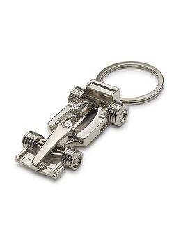 ADKEYFOD 3D F1 Race Car KeyChain   Driver Keyfob gift for father husband boyfriends, Metallic, Medium