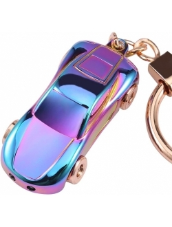 Key Chain Flashlights, Jobon Car Keychain Flashlight with 2 Modes Keychain LED Lights, Spring Ring Clip, Fancy and Adorable Men or Women Gifts Ideas