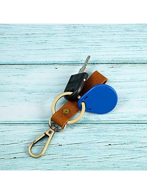 4 Pieces Leather Valet Keychain Leather Key Chain with Belt Loop Clip for Keys