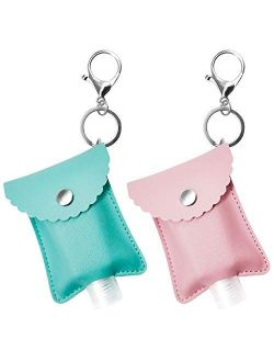 SENSIVO Hand Sanitizer Holder Keychain Empty Travel Size Hand Sanitizer Keychain For Backpack Small Hand Sanitizer Bottles For Kids Portable Refillable Hand Sanitizer Key
